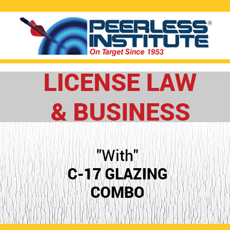 C-17 Glazing Book & Online Practice Exams Combo Package