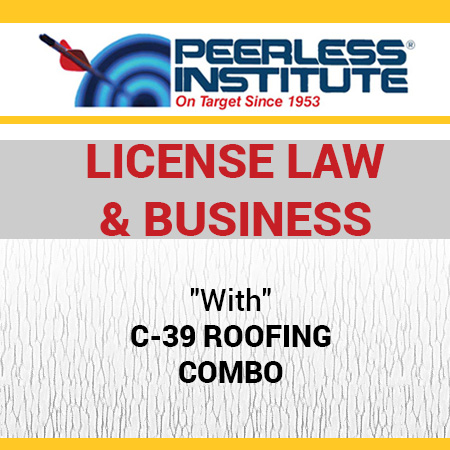 C 39 Roofing Book U0026 Online Practice Exams Combo Package Sc 1 St  Peerless Institute