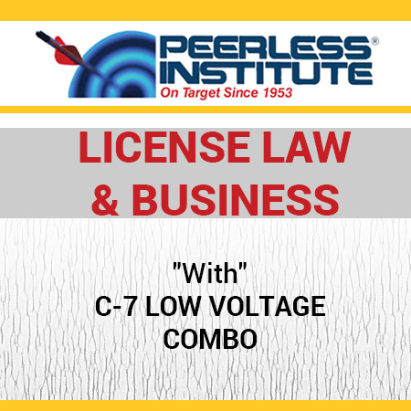 C-7 Low Voltage Book & Online Practice Exams Combo Package