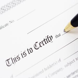Hazardous Substance Certification