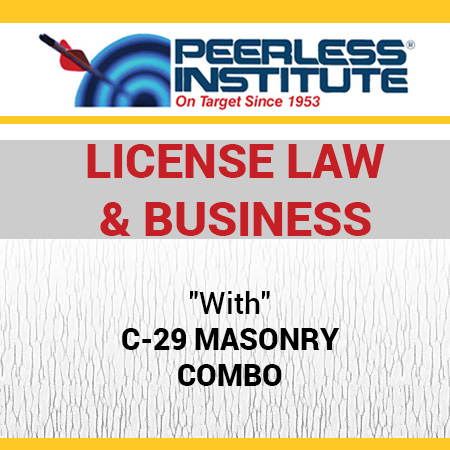 C-29 Masonry Book & Online Practice Exams Combo Package