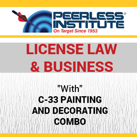 C-33 Painting and Decorating Book & Online Practice Exams Combo