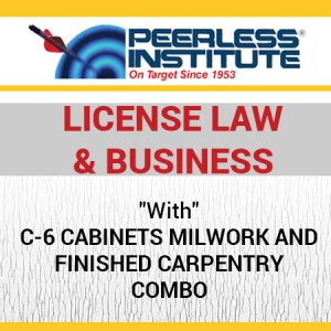 C-6 Cabinets Milwork and Finished Carpentry Book & Online Practice Exams Combo Package